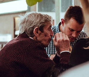 elderly man caregiver emotional roller coaster